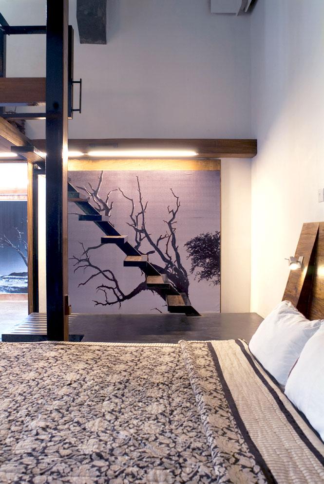 The  Bedroom of an Artist Studio Suite.