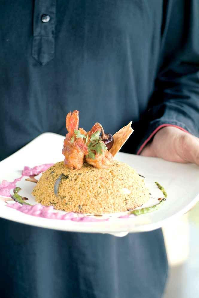The Restaurant's Organic Offerings Include Millet Biryani With Seared Seafood.