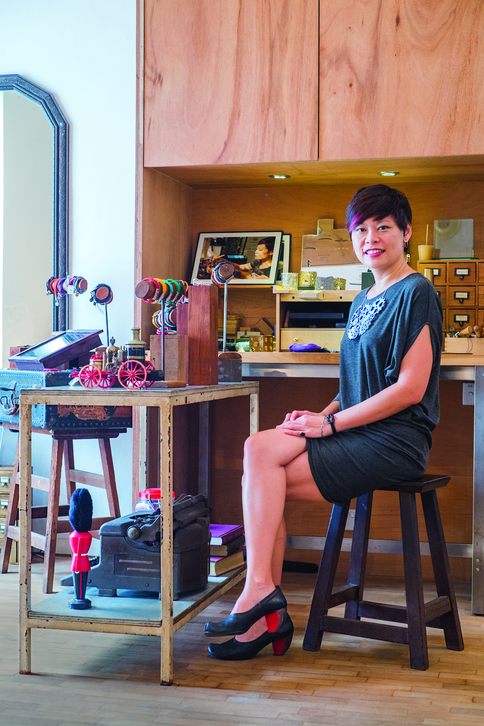 Carolyn Kan at her Carrie K. Atelier in Bukit Timah. Image by Caleb Ming