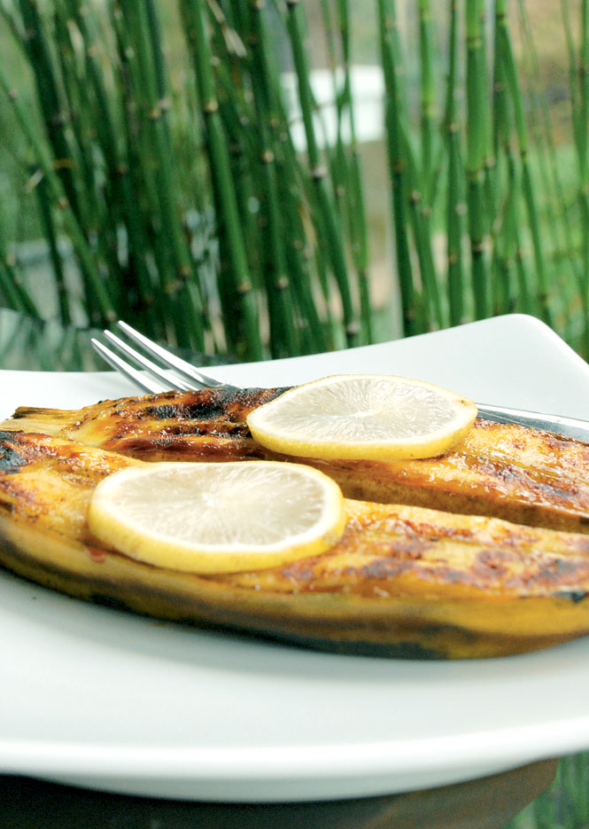 Grilled Bananas, on The Menu in The Café at Java Banana Lodge Near Mount Bromo.