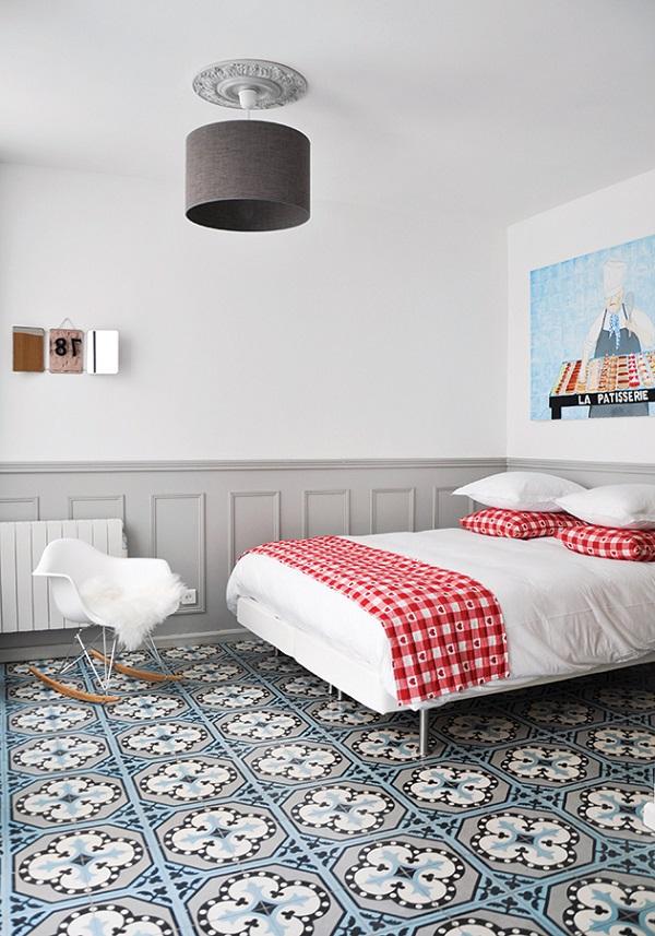 The bedroom at La Maisonnette.