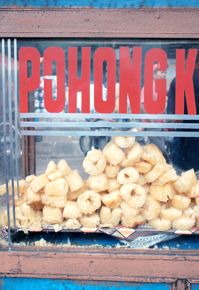 Fried Cassava For Sale at Malang's Market.