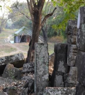 Camping Alongside Angkorian temples