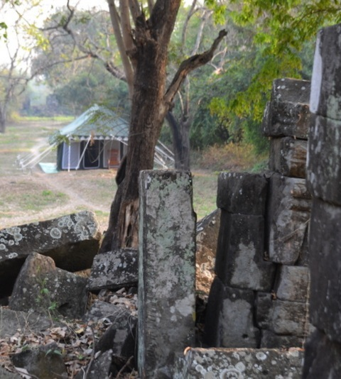 Khiri Travel offers camping alongside Angkorian temples.