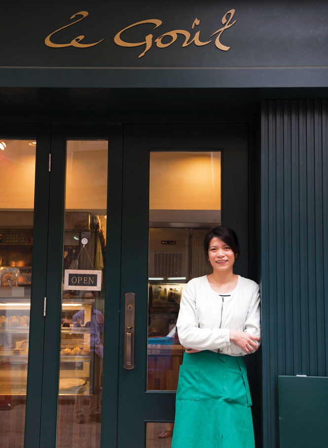 Carole Chan outside Le Gout.