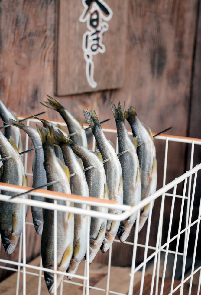 Sardines drying at Shuzenji Onsen.
