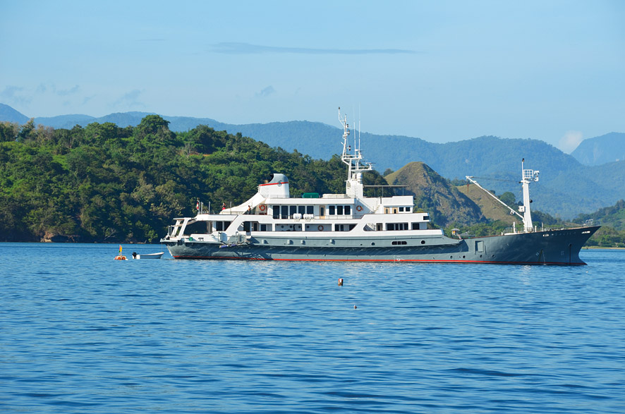 The former Japanese navel training vessel is now a luxury cruise vessel called the Salila. Photo by Pedro O'Connor