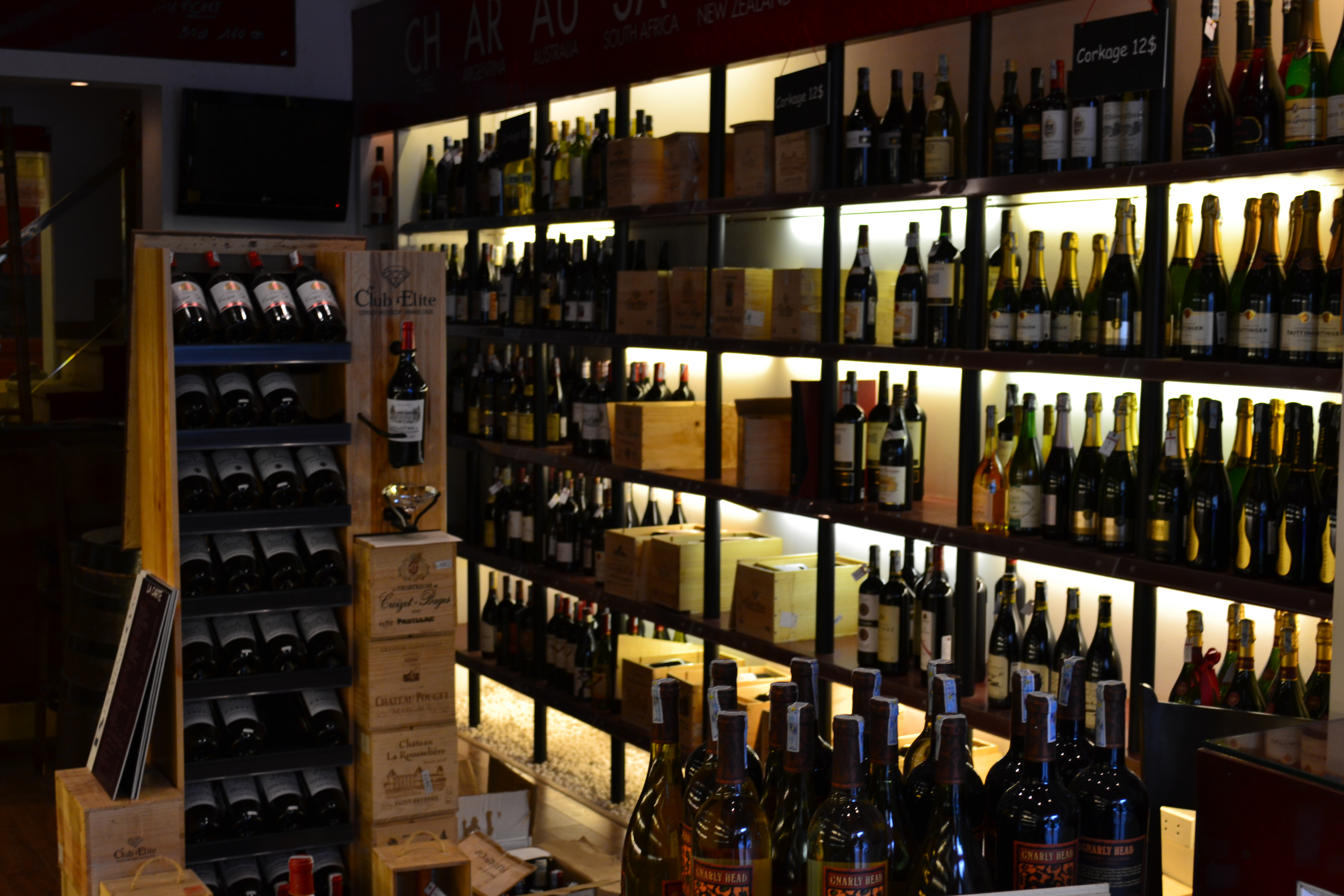326 varietals of wine populate the store.