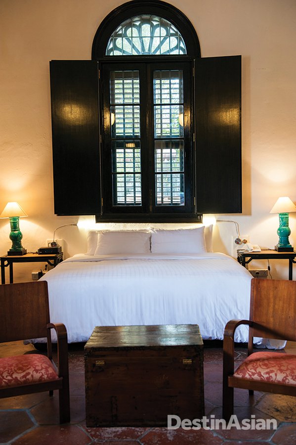 One of the hotel's remodeled guest rooms.