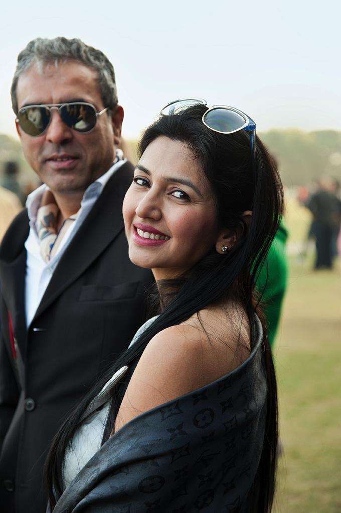 Guests Randeep Arya and Deepti Bhatnagar.