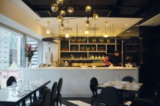 Inside Quest's 30-seat dining room.