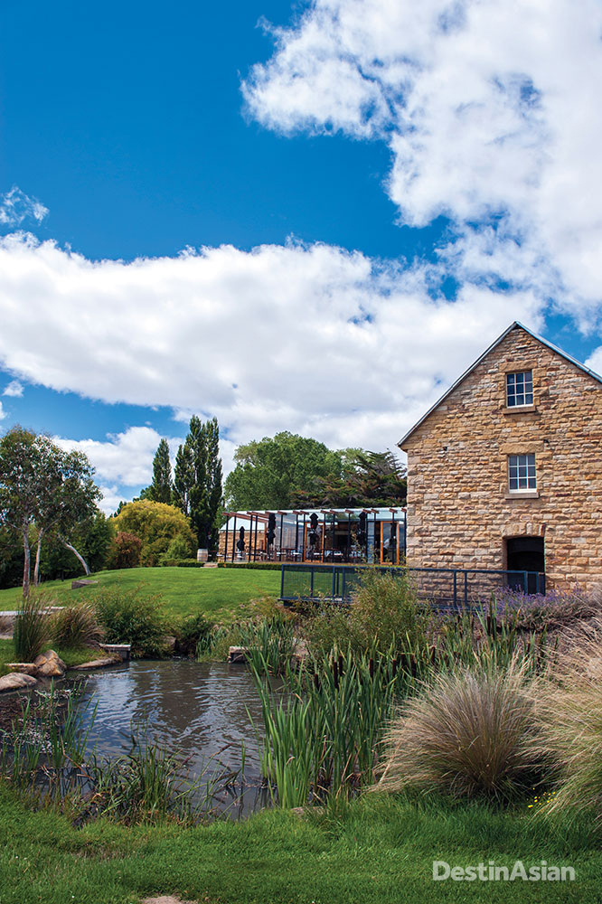 The old mill and glass-walled tasting room at Nant.