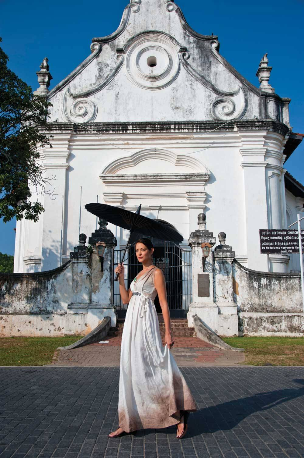 Galle Fort's colonial landmarks include the gabled Dutch Reformed Church, which dates from the 1750s.