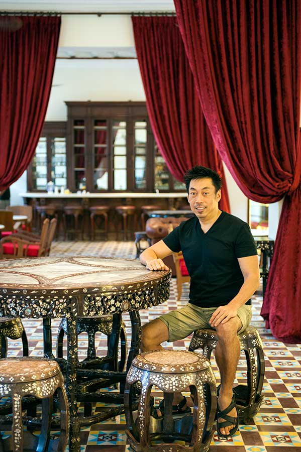 Chris Ong in his new restaurant.