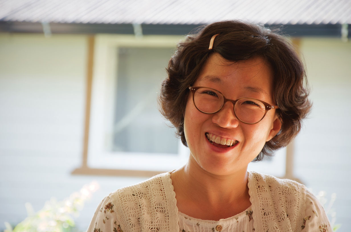 Cho Hoe-eun, owner of the Persimmons Flower in May guesthouse.