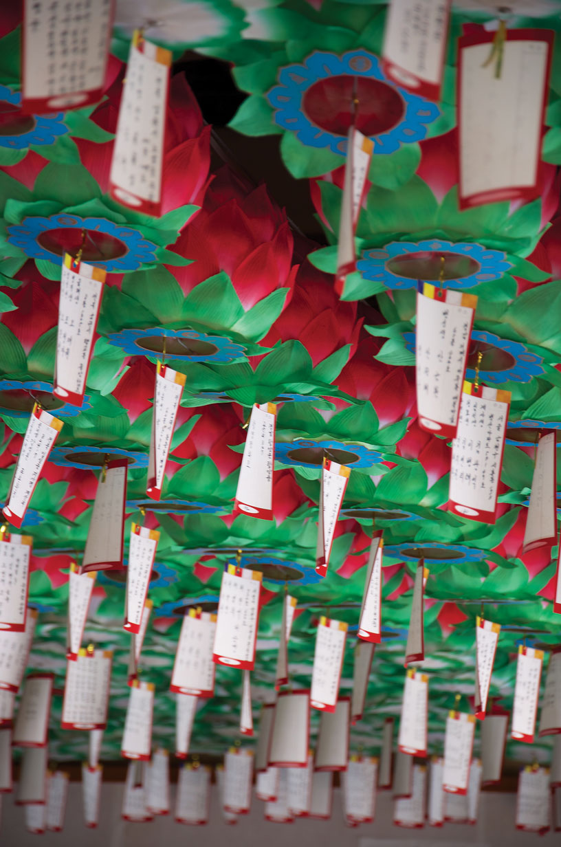 Paper lanterns at Silsangsa temple.