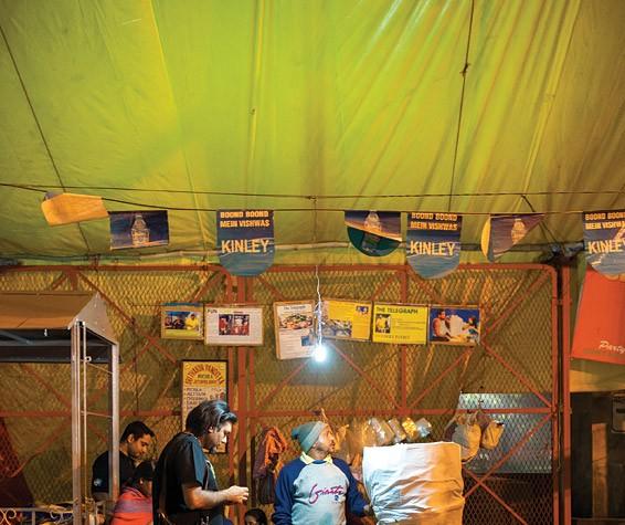 Gaggan Anand at Jetendra Pundit's Puchka Stall