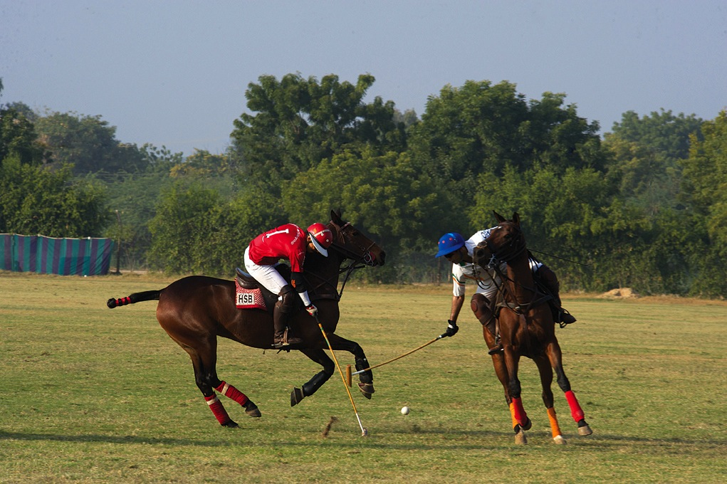 Action on the Jodhpur Polo Ground.