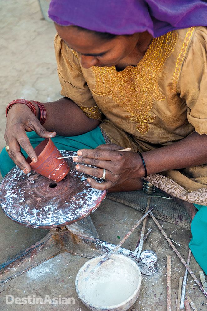 A potter in Khavada village.