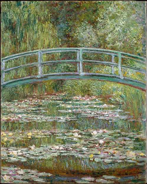 Bridge Over a Pond of Water Lilies by Claude Monet.