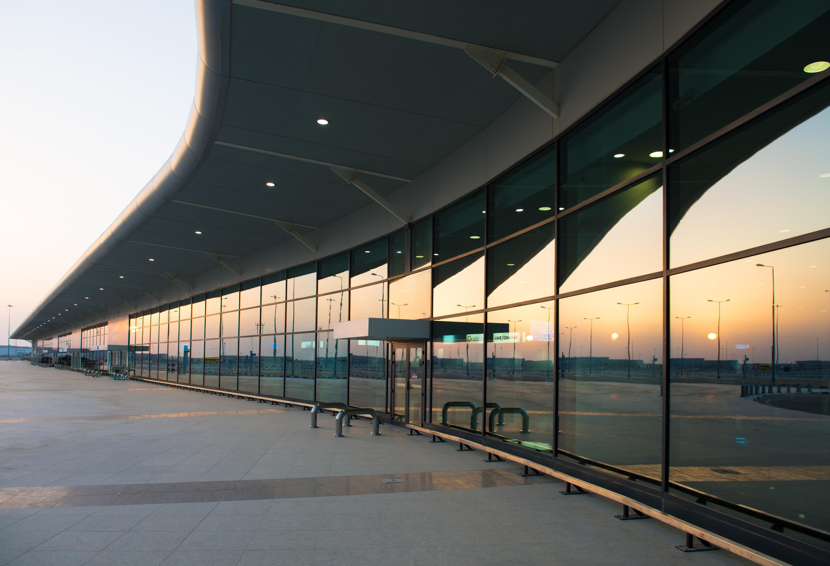 Sunset at Al Maktoum International.