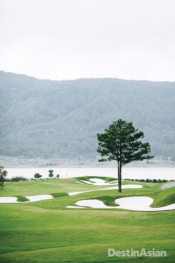 A lakeside fairway at The Dalat at 1200's newly opened golf course.
