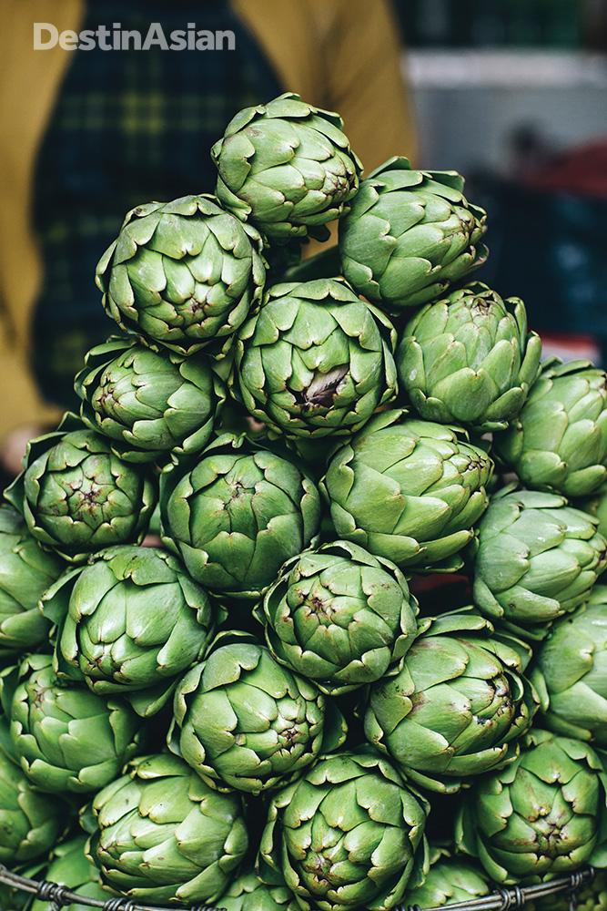 Artichokes at Dalat Market.