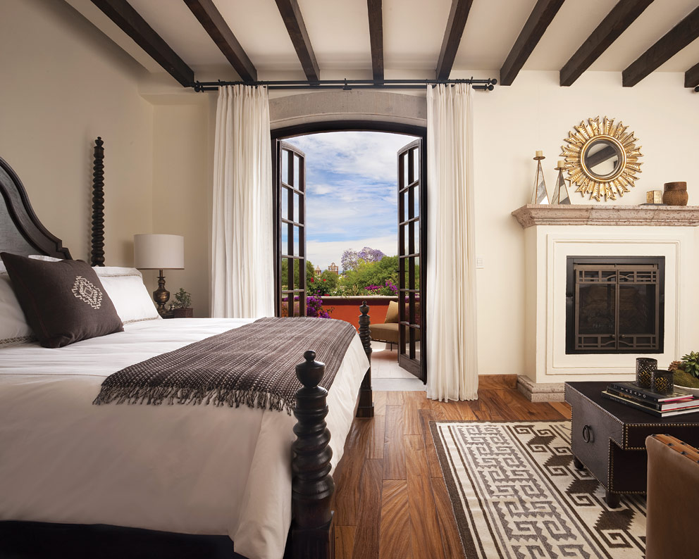 The Deluxe Colonial Room at the Rosewood San Miguel de Allende.
