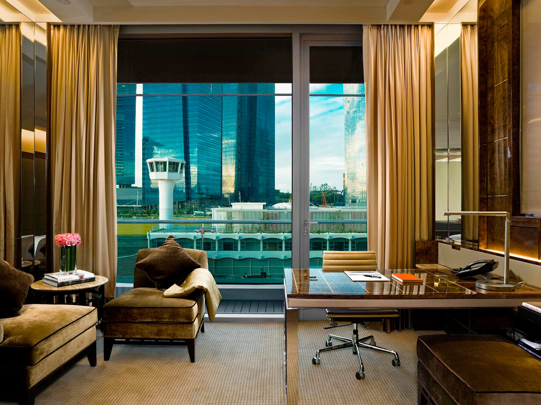 The Deluxe Room at The Fullerton Bay Hotel Singapore.