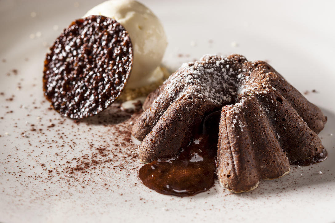 Warm Valrhona Chocolate Cake