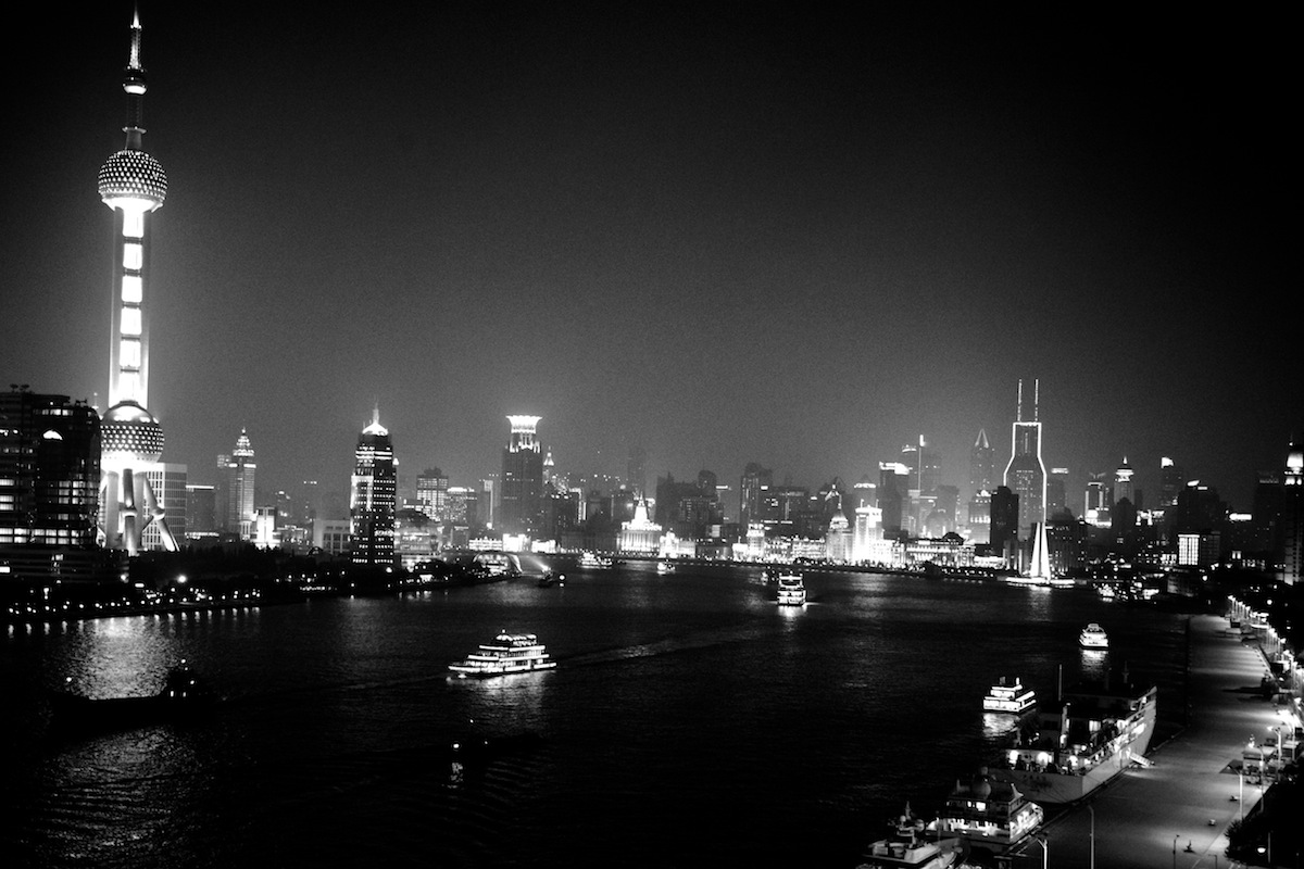 The storied curve of the Huangpu River seen from the north Bund. Photo by Peter Winter
