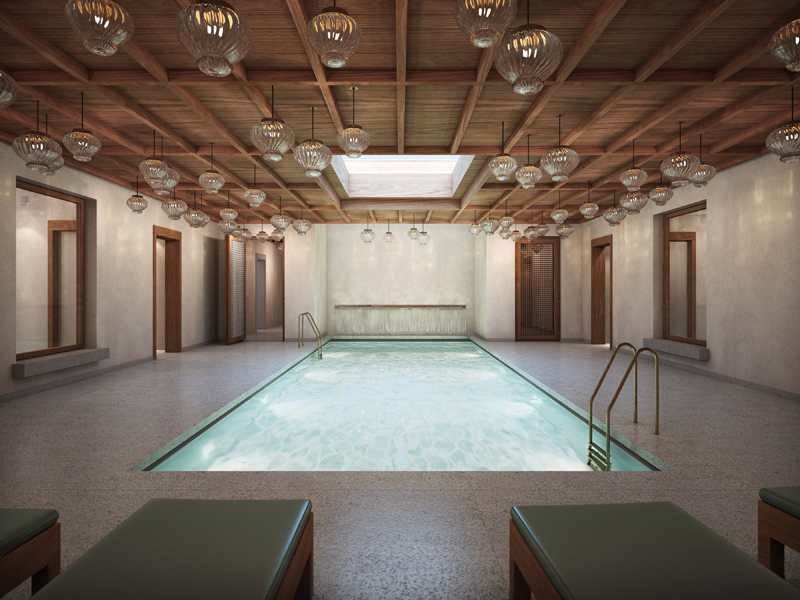 The spa's indoor pool.