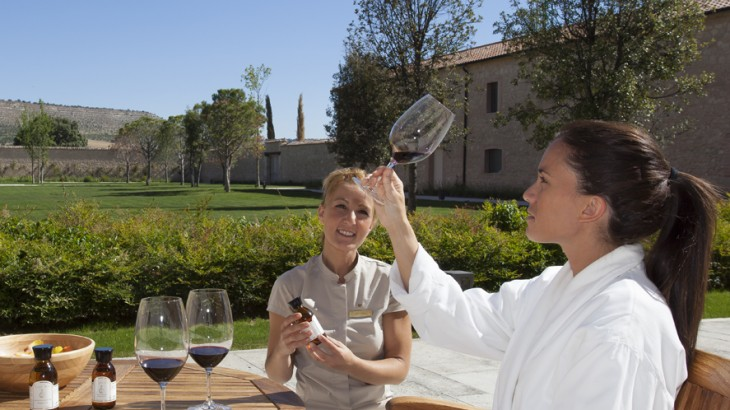 Sessions begin with wine tastings to help gauge which treatments are best suited to the guest.