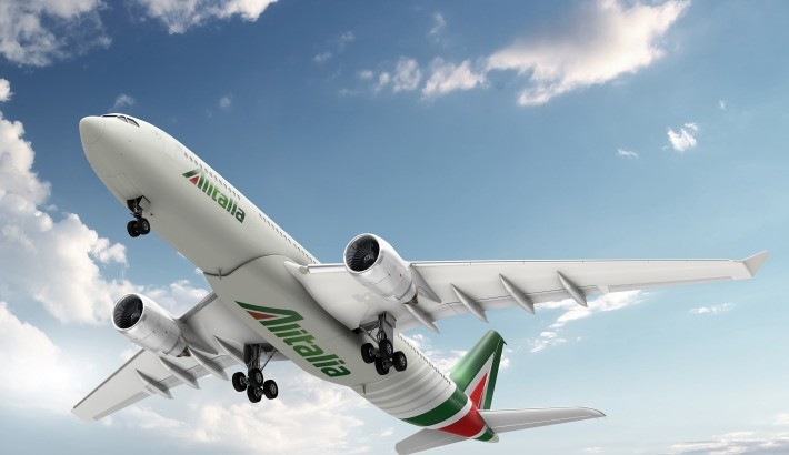The red and green 'A' on the tailfin is designed to represent the Italian flag.