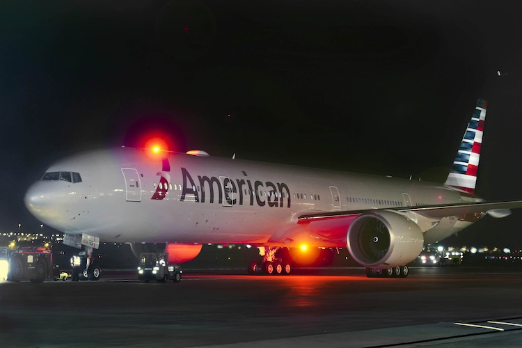 American Airlines' Boeing 777-300ER is its flagship aircraft for long-haul routes.