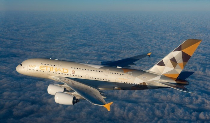 Etihad's A380, which is the first commercial aircraft with a 3-room cabin, now flies daily between Sydney and Abu Dhabi.