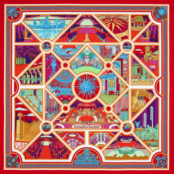 Hermès's Promenade à Versailles scarf benefits the restoration of Versailles' chambers.