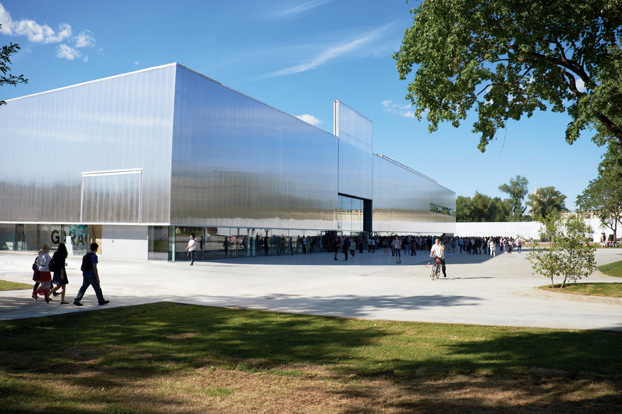 The Rem Koolhaas-designed Garage Museum in Gorky Park.