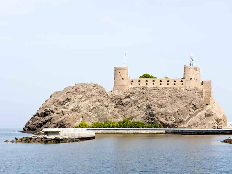 Fort Al-Mirani is one Muscat's most historic sites and a main attraction for travelers visiting Oman.