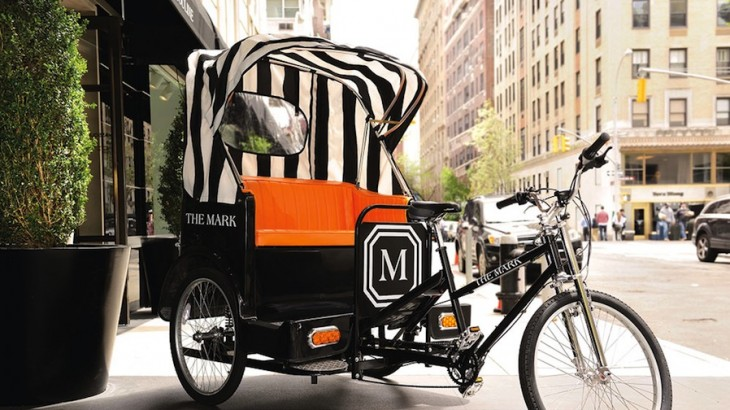 The Mark's stylish new pedicabs offer a welcome alternative to taxis and subways.