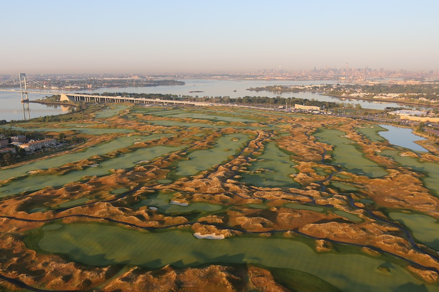 The course was first conceived by then-mayor Rudolph Giuliani in 1998; Donald Trump took over the project in 2011.
