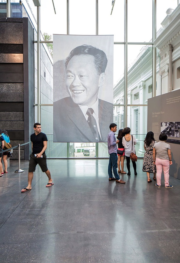A youthful portrait of the city-state's founding prime minister on display at the National Museum of Singapore during 'In Memoriam: Lee Kuan Yew,' a wildly popular exhibition that attracted tens of thousands of visitors during its recent two-month run.