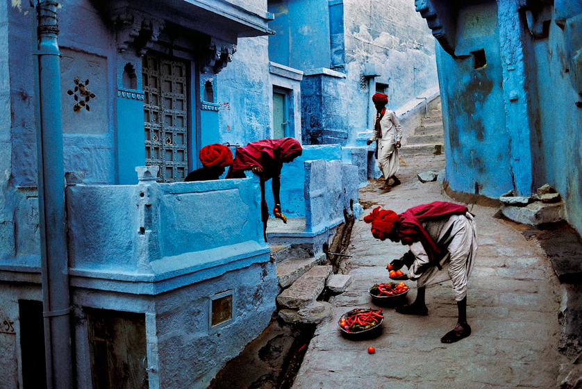 Steve McCurry, Jodhpur Fruit Vendor, India, 1996, Ultrachrome print, 40 x 60 inches; photograph © Steve McCurry
