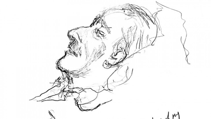 A drawing by U2's Bono of his father, which inspired the Irish Hospice Foundation to create the book.