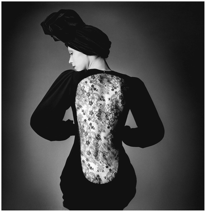 Marina Schiano wearing the short evening dress, Haute couture collection Fall-Winter 1970, © The Estate of Jeanloup Sieff
