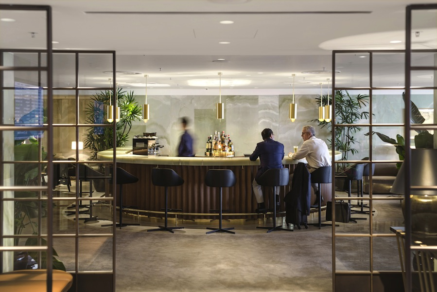 A wide selection of wines and cocktails are available at the full-service Bar.