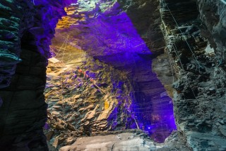 The caverns were last accessible 200 years ago, when they were used for slate mining.