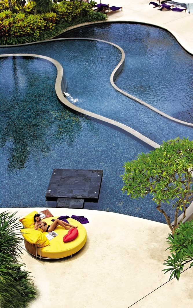 Poolside at the W Retreat & Spa Bali, the island's top-ranked resort in this year's poll