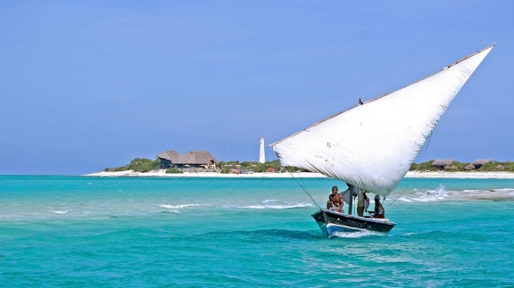 Traditional dhow sailing boats take guests to nearby islands for picnics.
