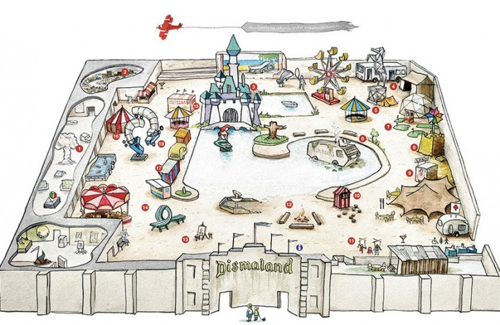 """A map of the """"bemusement park"""" for visitors."""